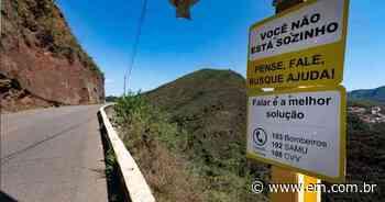 Instalação de placas em avenida de Ouro Preto amplia debate sobre suicídio - Estado de Minas