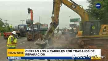 Reparación en la vía Arraiján Cabecera provoca un caos vehicular - TVN Panamá