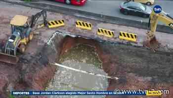 Explican operativos por socavón en la vía en Arraiján cabecera - TVN Panamá