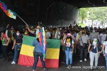 Indígenas de Riosucio y Supía se unen a las manifestaciones de este miércoles en Manizales - La Patria.com