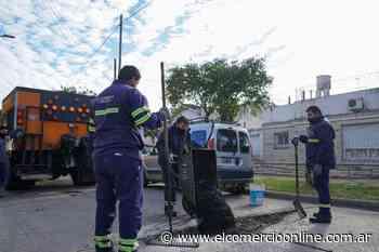 Vicente López avanza con trabajos de bacheo y asfalto en Florida Oeste - elcomercioonline.com.ar