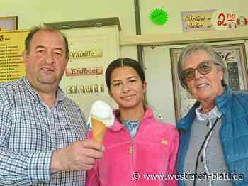 Schaustellerfamilie Heitmann eröffnet Bude in Hiddenhausen-Oetinghausen: Eis nach italienischem Rezept - Westfalen-Blatt