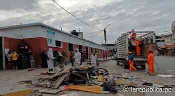 Piura: recogen ocho toneladas de desechos en Mercado Central de Talara - LaRepública.pe