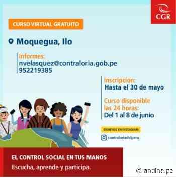 Moquegua: ciudadanos de Ilo recibirán capacitación sobre rol vigilante de control público - Agencia Andina