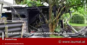 Brand eines Gartenschuppens in Feldkirchen an der Donau - laumat|at