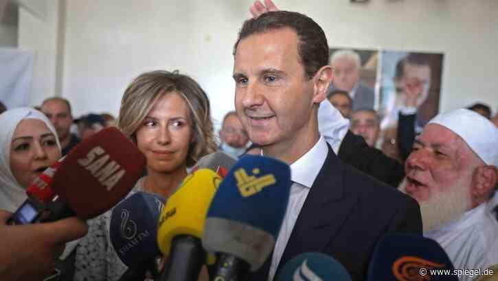 Syrien: Baschar al-Assad lässt sich mit 95,1 Prozent der Stimmen als Präsident wiederwählen - DER SPIEGEL