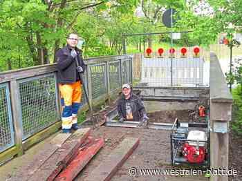 Bauhof wartet auf Holz für die Brücke - Westfalen-Blatt