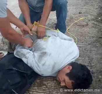 Vecinos amarran a asaltante en Casas Palenque - El Dictamen