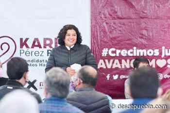 Karina Pérez Popoca presenta su propuesta en Lomas de Angelópolis y Cacalotepec - desdepuebla.com - DesdePuebla