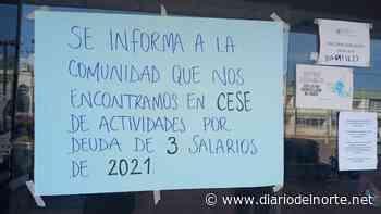 Paro en el hospital de Barrancas: les deben tres meses de salarios a los trabajadores - Diario del Norte.net