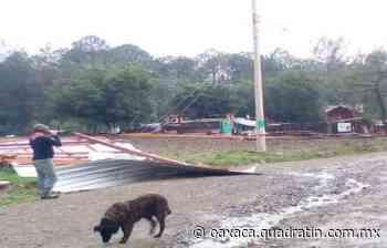 Lluvias provocan daños en agencia de Tlaxiaco - Quadratín Oaxaca