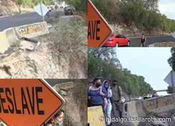 Socavón consume lentamente la vía México-Querétaro; denuncian vecinos de Tepeji - La Silla Rota