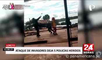 Iquitos: policías e invasores se enfrentan en batalla campal | Panamericana TV - Panamericana Televisión