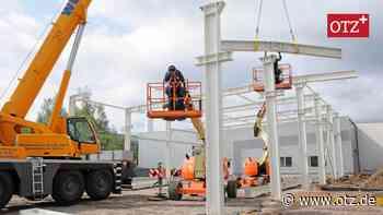 Hermsdorf: Tonnenschwerer Stahl auf kompliziertem Baugrund - Ostthüringer Zeitung