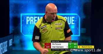Premier League of Darts: Michael van Gerwen besiegt José de Sousa mit 8:6 - SPORT1