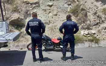 Recuperan moto que había sido robada en Tequisquiapan - El Sol de San Juan del Río