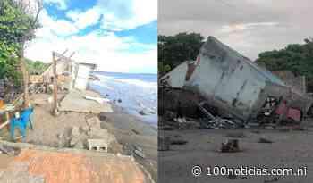 Continúa alerta en Corinto tras fuerte oleaje que destruyó una decena de casas - 100% Noticias • Nicaragua