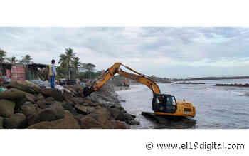 Continúan las labores para restablecer el dique rocoso de Corinto - El 19 Digital