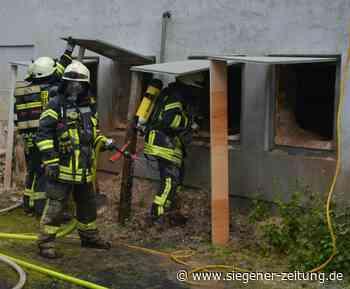Schwieriger Einsatz für die Wehrkräfte: Feuer im Holzspäne-Bunker in Alsdorf - Siegener Zeitung