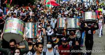Marchas desde el Poblado hacia Envigado y Itaguí, en total calma - El Colombiano