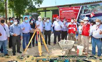 Gobernador da inicio a la construcción de colegio en Talandracas, Chulucanas - El Regional