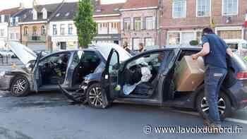 Wormhout : collision entre deux voitures place De-Gaulle - La Voix du Nord