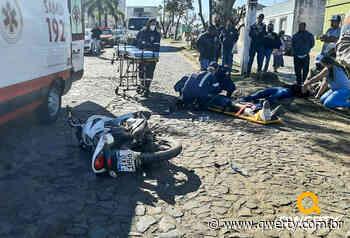 Acidente deixa dois feridos no centro de Dom Pedrito - Qwerty Portal