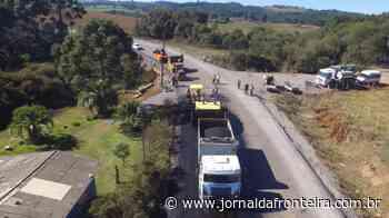 Começa o asfaltamento da SC-390, entre Anita Garibaldi e Celso Ramos - Jornal da Fronteira