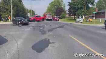 3 taken to hospital after head-on crash in Port Hope   Watch News Videos Online - Globalnews.ca