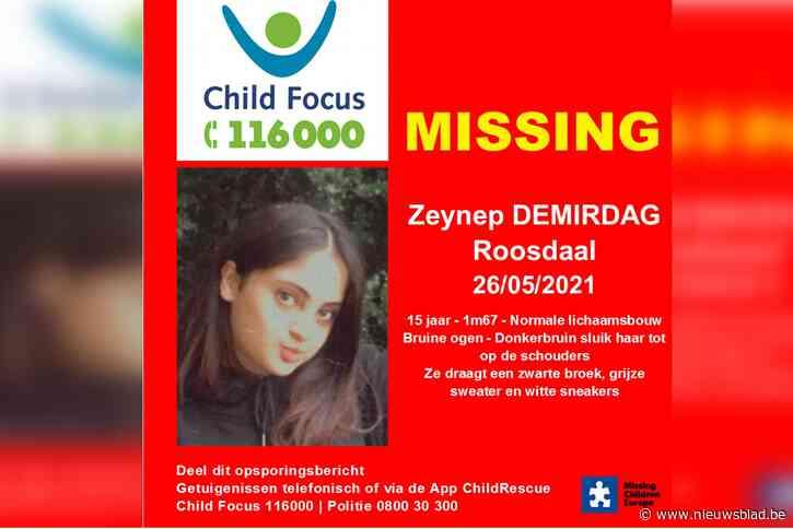 Child Focus vraagt uit te kijken naar vermist meisje van vijftien