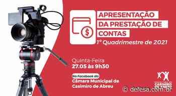 Saúde de Casimiro de Abreu presta contas nesta quinta-feira do primeiro quadrimestre de 2021 – Casimiro de Abreu - Defesa - Agência de Notícias