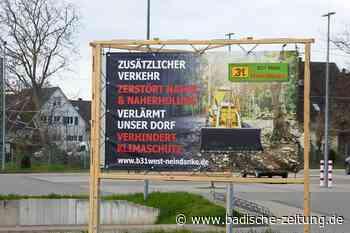 Befürworter und Gegner der B 31 West duellieren sich mit Plakaten - Gottenheim - Badische Zeitung