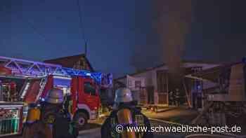 Schreinerei in Steinheim am Albuch brennt | Heidenheim - Schwäbische Post
