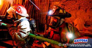 Centro de Lima   Se registra incendio en inmueble de jr. Huanta - exitosanoticias