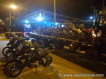Motos, armas e drogas são apreendidas pela PRF em Ibatiba - Aqui Notícias - www.aquinoticias.com