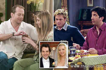 Friends' shocking guest stars including Sean Penn, Reese Witherspoon, Bruce Willis and Jennifer Aniston's e... - The US Sun