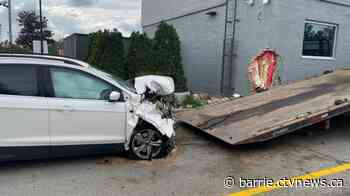One person in hospital after crash into Alliston McDonald's - CTV Toronto