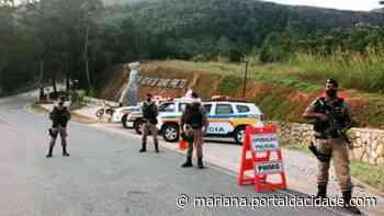 Operação Polícia Militar faz grande operação entre Ouro Preto e Ouro Branco 27/05/2021 às - ® Portal da Cidade   Mariana