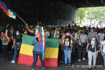 Indígenas de Riosucio y Supía se unieron a las manifestaciones de este miércoles en Manizales - La Patria.com