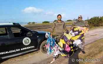 Balão é encontrado em área de restinga em Arraial do Cabo - Jornal O Dia