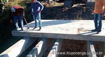 Nova ponte é construída pela Administração na comunidade de Rio Bonito - Prefeitura de Ituporanga