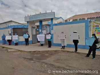 Lampa: trabajadores de centro de salud de Santa Lucía realizan plantón exigiendo la asignación de recursos - Pachamama radio 850 AM