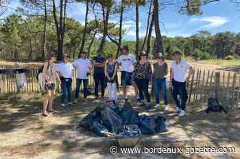 Opération nettoyage de la plage nord de Lacanau par Leader Group - Bordeaux Gazette