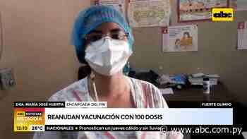 Reanudan vacunación con 100 dosis en Fuerte Olimpo - ABC Noticias - ABC Color