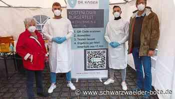 Kampf gegen Corona - Neue kostenlose Tests in Hornberg - Schwarzwälder Bote