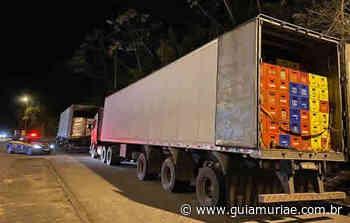 PRF apreende 1092 caixas de cerveja sem documentação em Leopoldina - Guia Muriaé