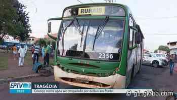 Criança morre após ser atropelada por ônibus em Pontal, SP - G1