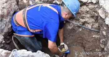 Aguas Cordobesas reparó un caño que afectaba el suministro en el Centro - Vía País