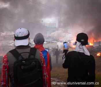 Caos en Popayán por confrontaciones que se presentaron tras movilizaciones - El Universal - Colombia