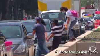 Rediseño de camellones en la México-Tacuba inconforma a peatones - Noticieros Televisa